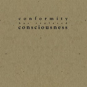 Conformity Has Replaced Consciousness