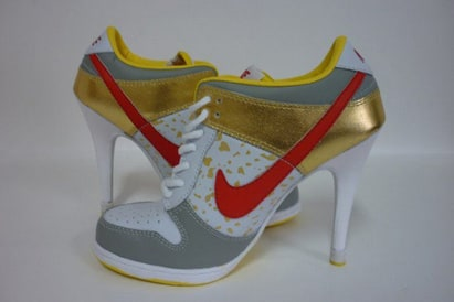 Nike Dunk SB Low Heels Gold/Red/White