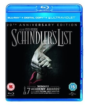 Schindler's List - 20th Anniversary Edition (Blu-ray + Digital Copy + UV Copy)