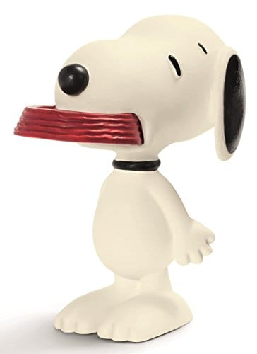 Peanuts Schleich Figurine: Snoopy with His Supper Dish