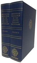 Historical Thesaurus of the Oxford English Dictionary - 2 volume set