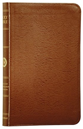 The Holy Bible: English Standard Version, Compact Edition (Premium British Tan Bonded Leather, Red Letter Text)
