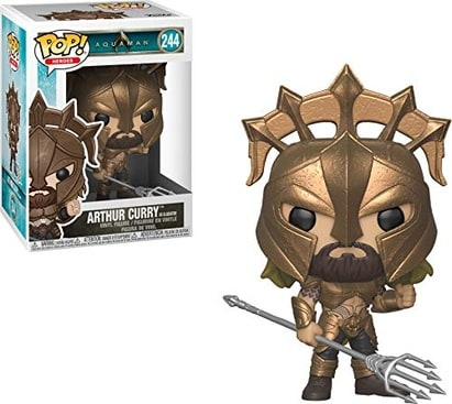 Funko Pop Heroes: Aquaman - Arthur Curry as Gladiator Collectible Figure, Multicolor
