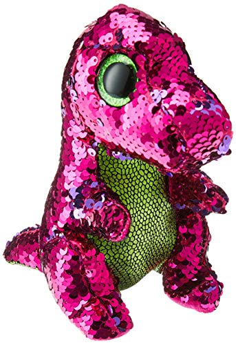 Ty Flippable STOMPY The Pink/Green Sequin Dinosaur - 6